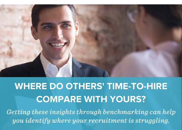 Manager Interviewing Candidate Reviewing Resume - Comparing Public Sector Time-to-Hire Success Through Benchmarking